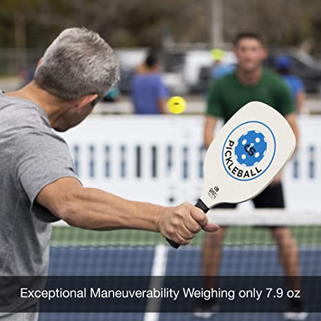 Amazon.com : Day 1 Sports Pickleball Paddle Starter Set with 2 Blue Paddles, Carry Bag, 4 Indoor Pickle Balls Beginner and Recreational Pickleball Kit with ...