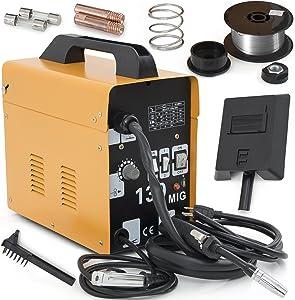 ARKSEN MIG-130 Welding Machine Gas Less Flux Core Wire DIY Home Welder