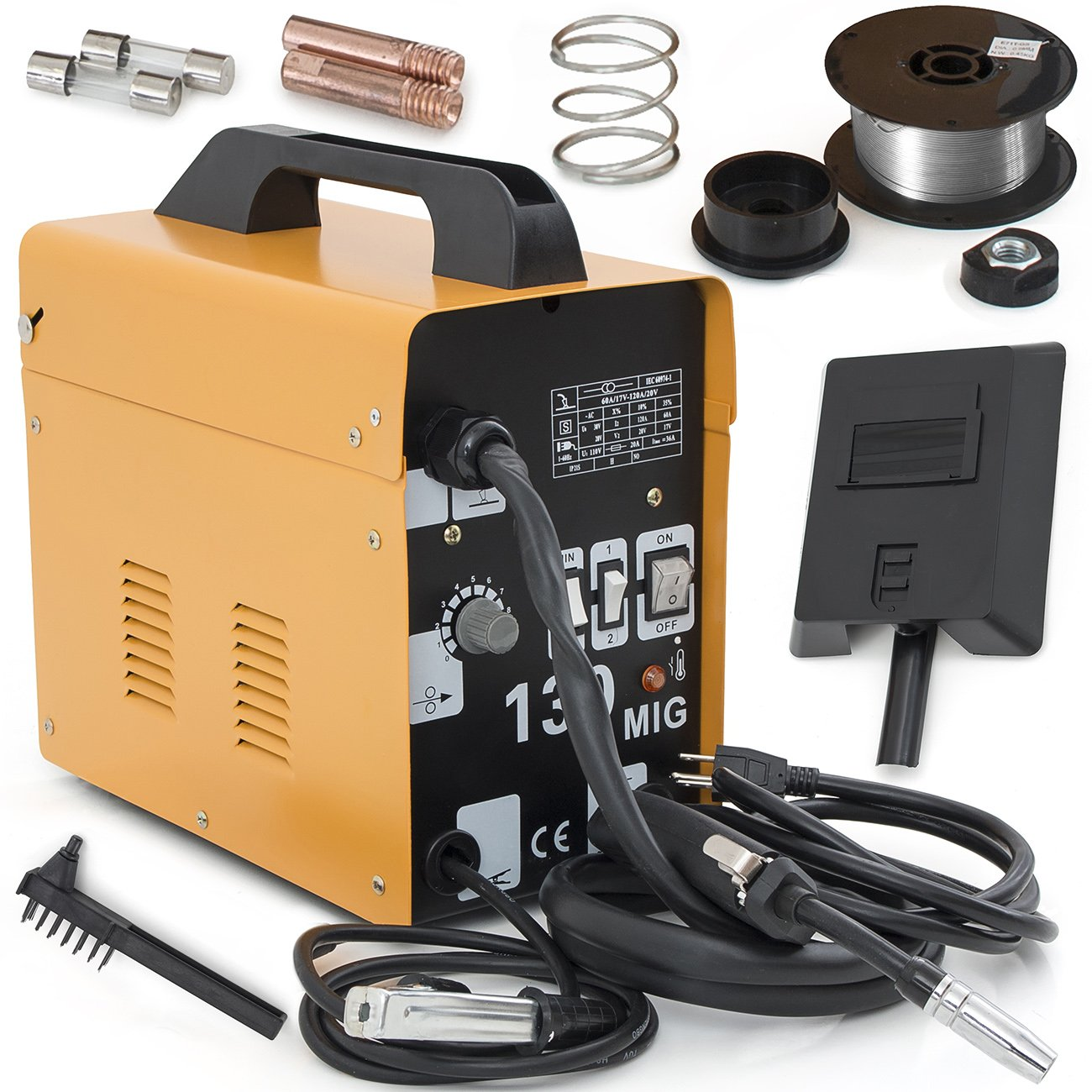 ARKSEN MIG-130 Welding Machine Gas Less Flux Core Wire DIY Home ...
