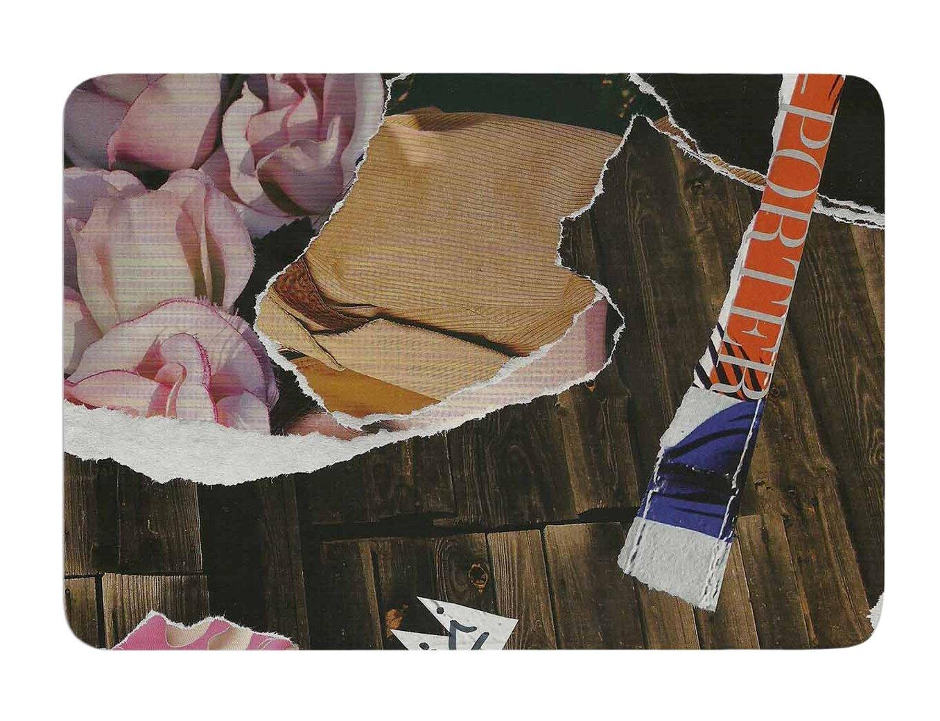 Kess InHouse Jina Ninjjaga Autumn Pop Art Memory Foam Bath Mat, 17 by 24-Inch, 17' X 24'