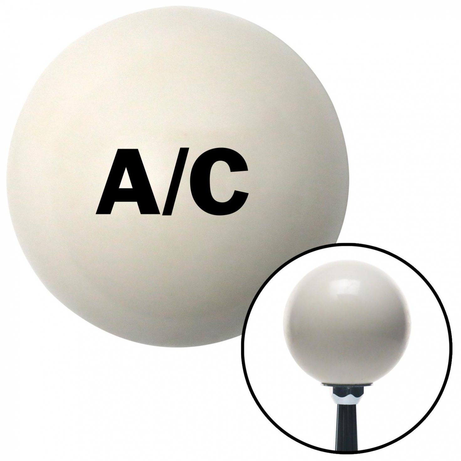 American Shifter 42419 Ivory Shift Knob with 16mm x 1.5 Insert Black A//C