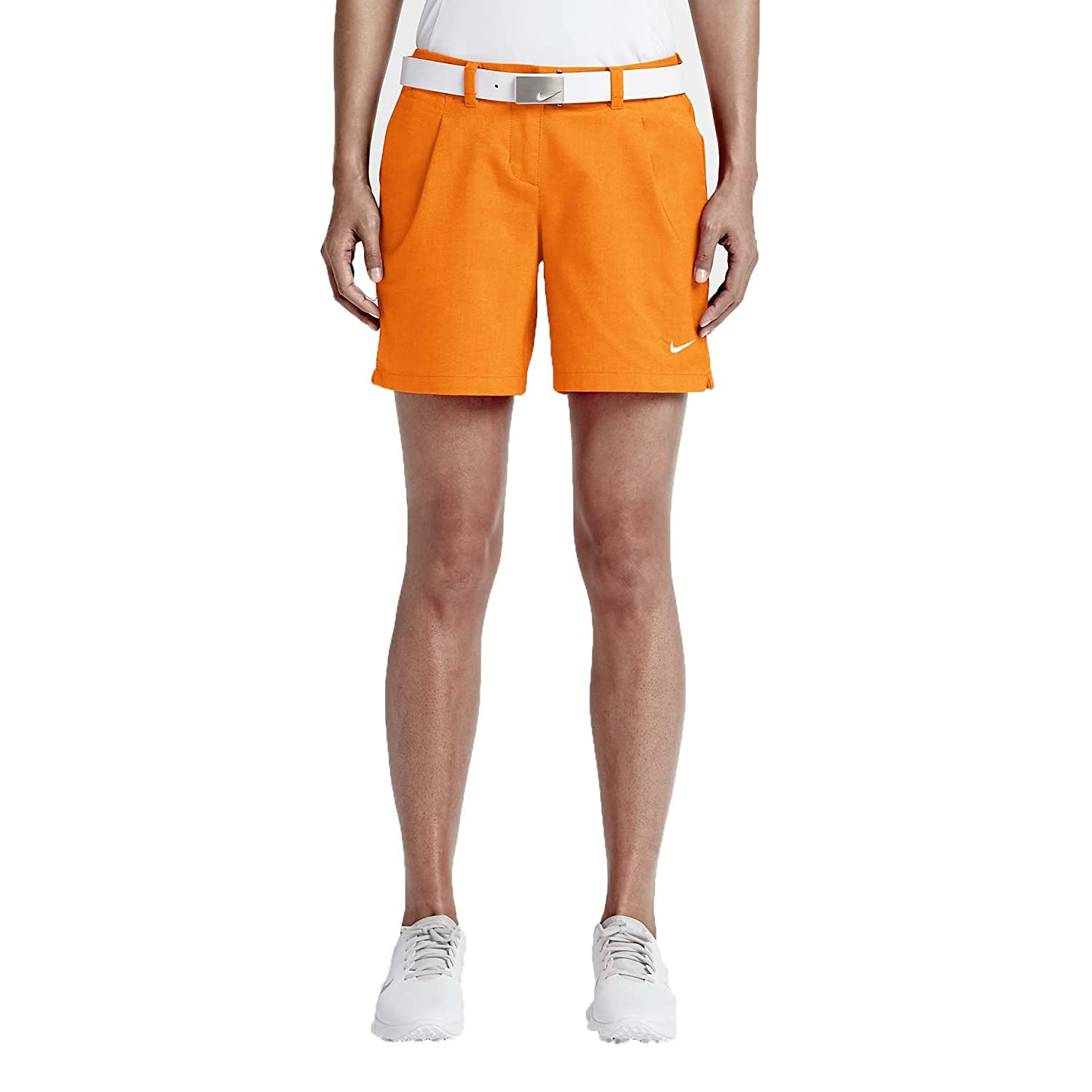 Nike Women's Dri-Fit Oxford Golf Shorts Vivid Orange 725763 868