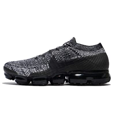 Nike Men's Air VaporMax Flyknit Running Shoe Black/Black-White-Racer Blue  14.0