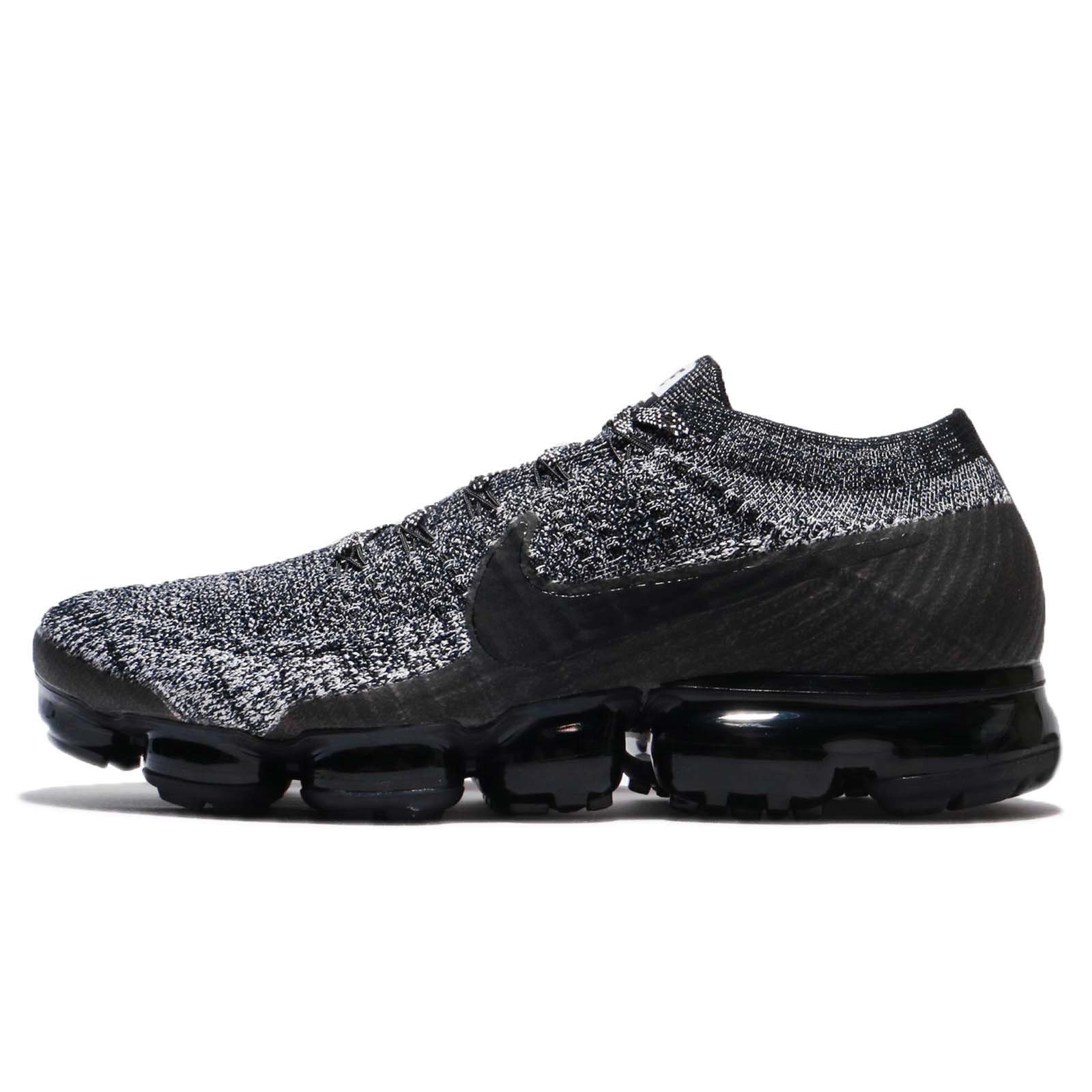 Nike Men's Air Vapormax Flyknit Running Shoes (12, Black/Black/White-