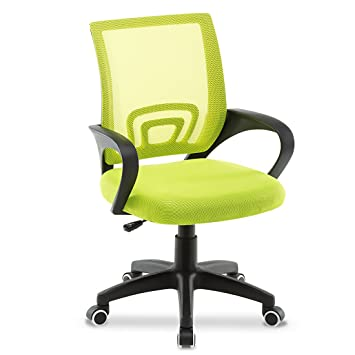 JL Comfurni Office Chair Adjustable Mesh Swivel Home Office Chairs Low Back  Computer Desk Chair Working