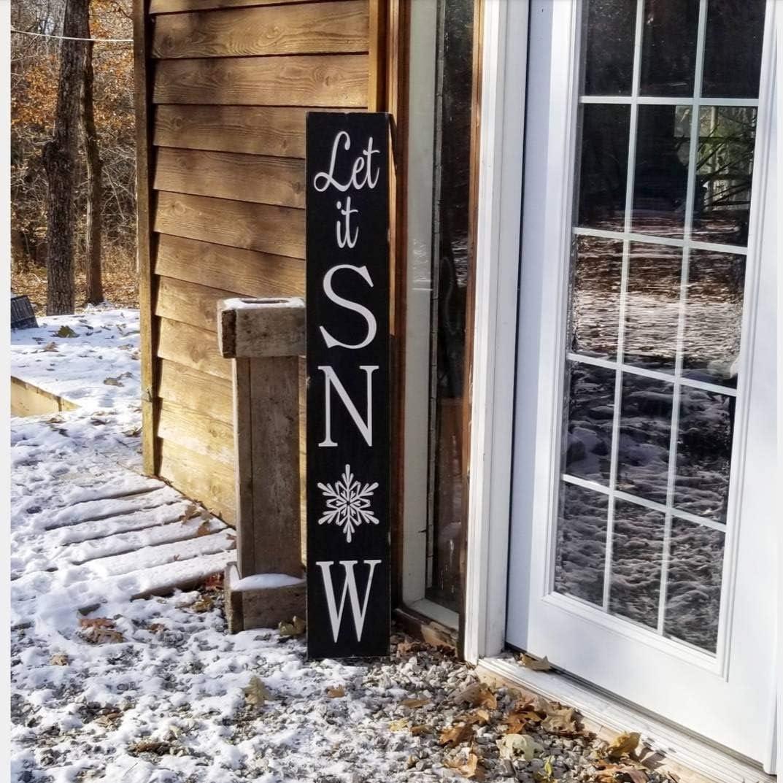 Let It Snow Porch Sign Christmas Porch Sign Christmas Sign Christmas Porch Decor Winter Porch Sign Kitchen Home Farmhouse Decor Christmas Thanksgiving Parents Gift