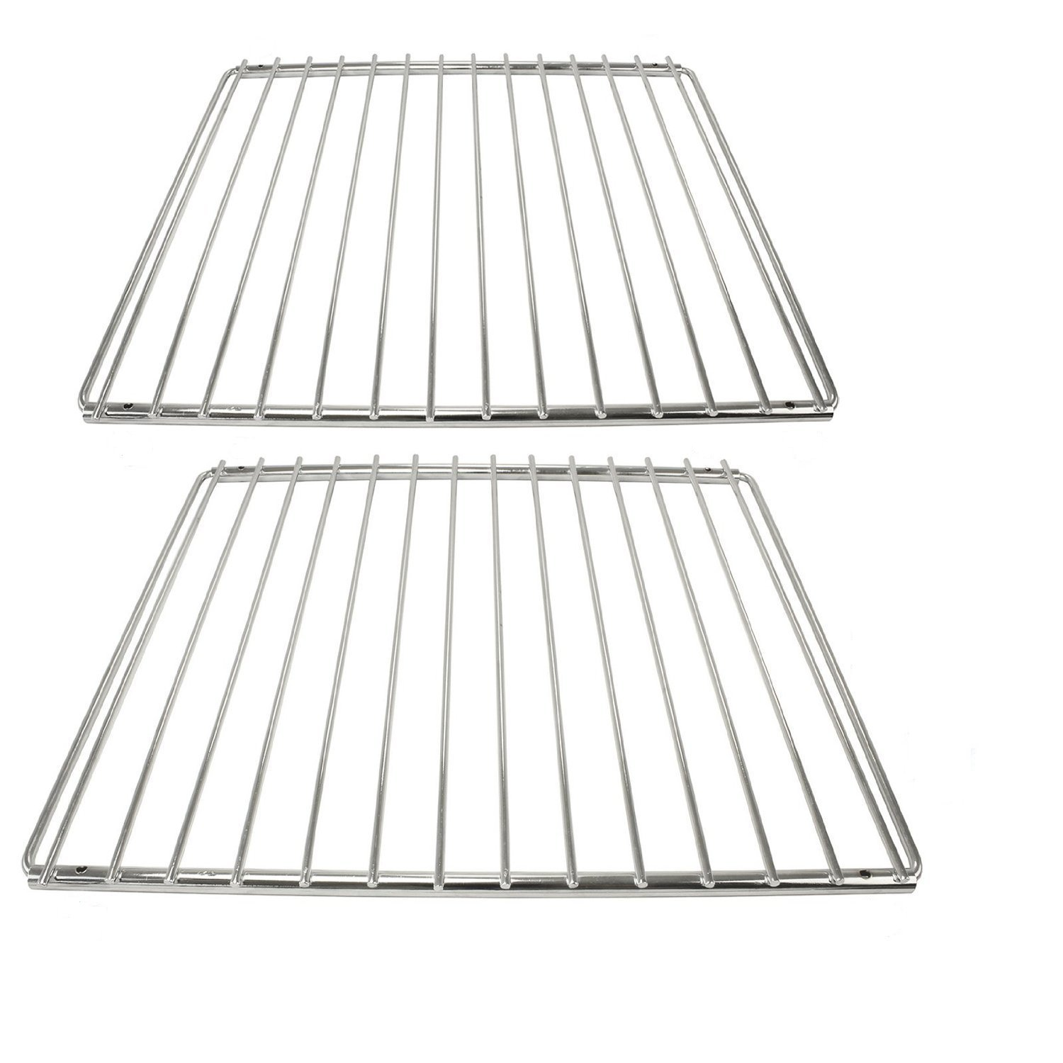 CookSpace ® Chrome Adjustable Universal Fixed Arm Grill Shelf for all Makes of Oven Cooker & Grill (Pack of 2, 320mm x 360 / 620mm)