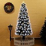 光ファイバー クリスマスツリー, 色の変更 容易な組み立て の鉄製土台 人工的なクリスマス ツリー フラッシュ モード クリスマス ツリー Led ライト付き -E 2.4m/7.9 ft