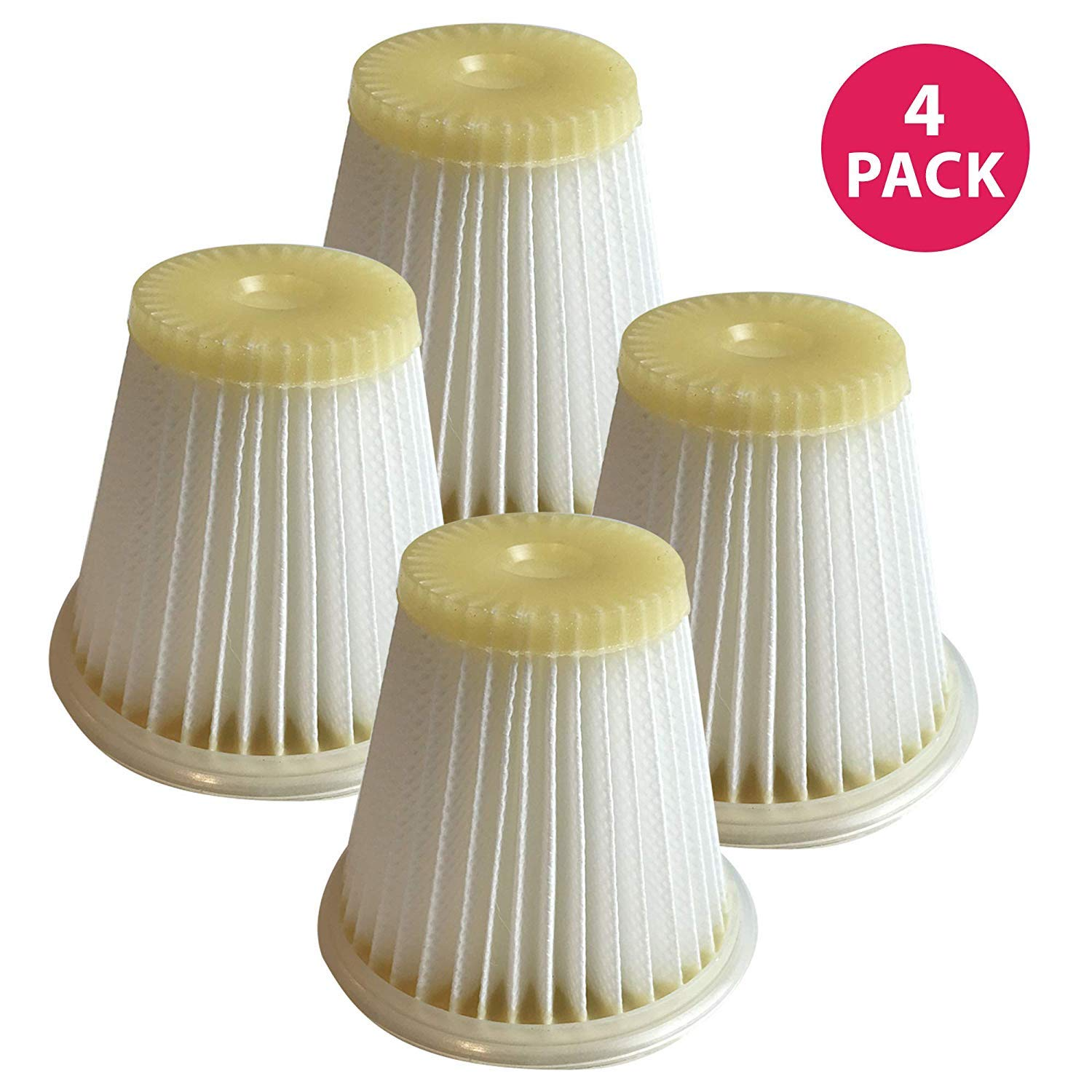 Think Crucial Replacement Air Filters - Compatible with Black and Decker VF100 Washable Dust Buster Filter - HEPA Style Filter Parts - Pair with Part VF100, VF100H and Model CHV1400 - Bulk (4 Pack)