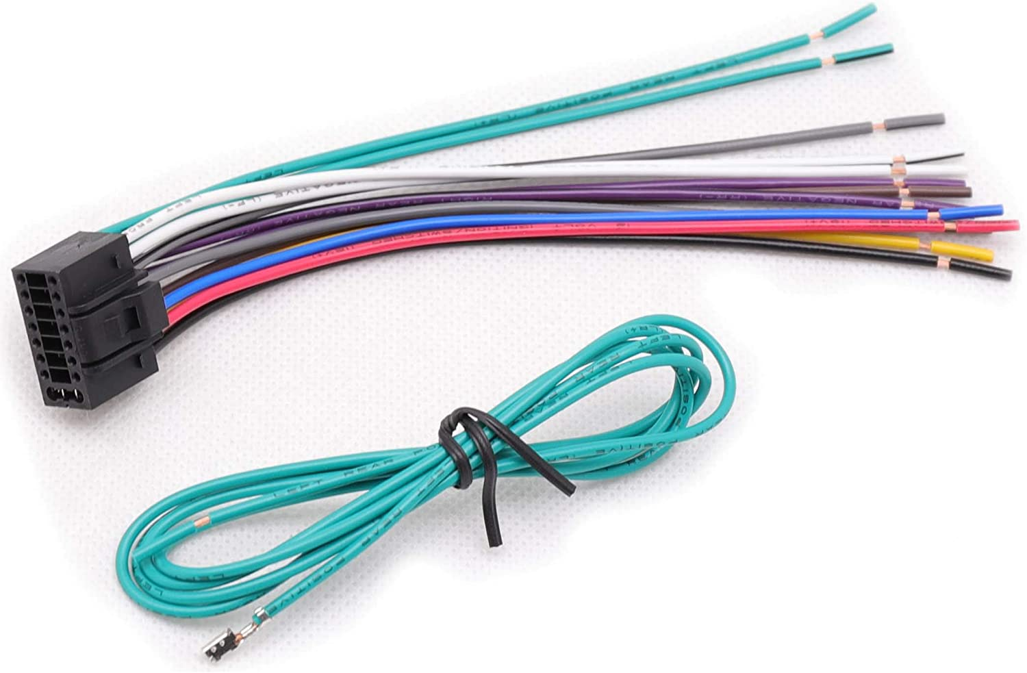 RED WOLF Aftermarket Kenwood Audio Stereo Install Wiring Harness 16 Pin Radio Replacement Power Plug Adapter for 1994-2016 KDC KRC KMD
