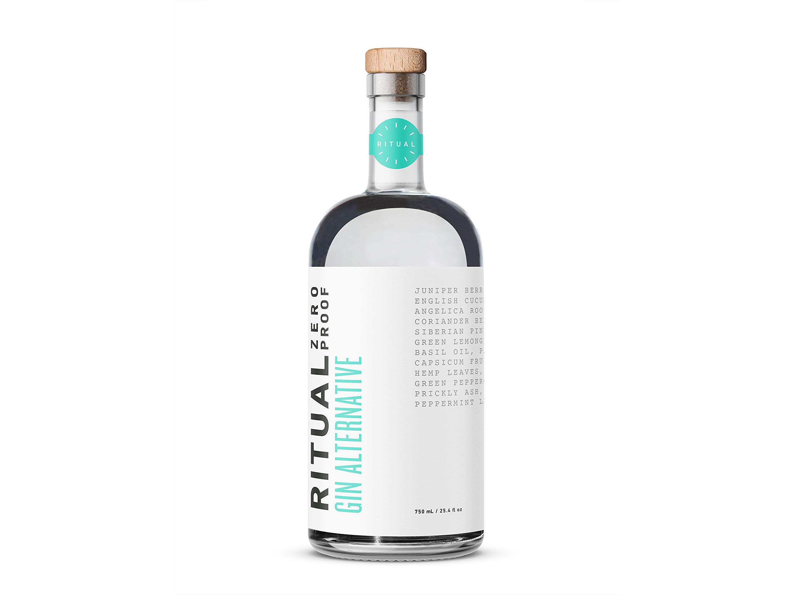 Ritual Gin - A zero-proof non alcoholic gin alternative that echoes the taste, smell, and burn of botanical gin for easy mocktails and alcohol-, gluten- and sugar-free cocktails (750 mL) by Ritual Zero Proof