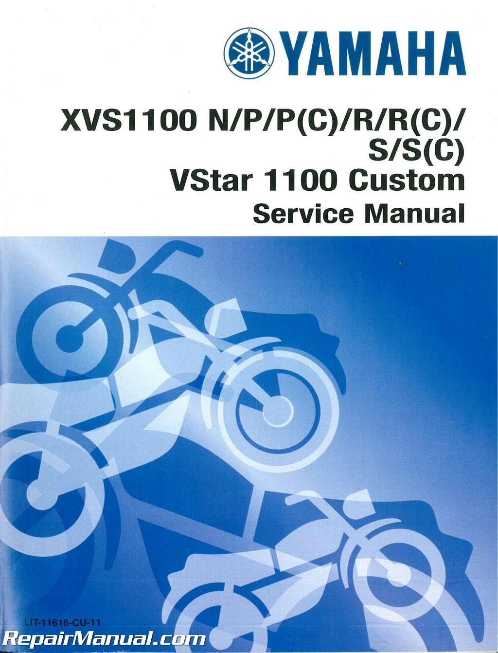 LIT-11616-CU-11 1999-2005 Yamaha XVS1100S SC V-Star Custom Service Manual:  Manufacturer: Amazon.com: Books