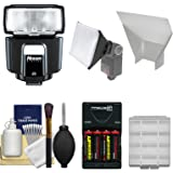 Nissin i40 Speedlite Flash + Batteries/Charger + Softbox + Reflector Kit for Sony Alpha A58, A65, A77 II, A99, A7 II, A7R, A7S, A3000, A6000 Camera