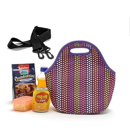 LLQ Bolsa de Comida Impermeable, Bolsas Térmicas para Comida Bolsa de Almuerzo, Lunch Bag Portátil