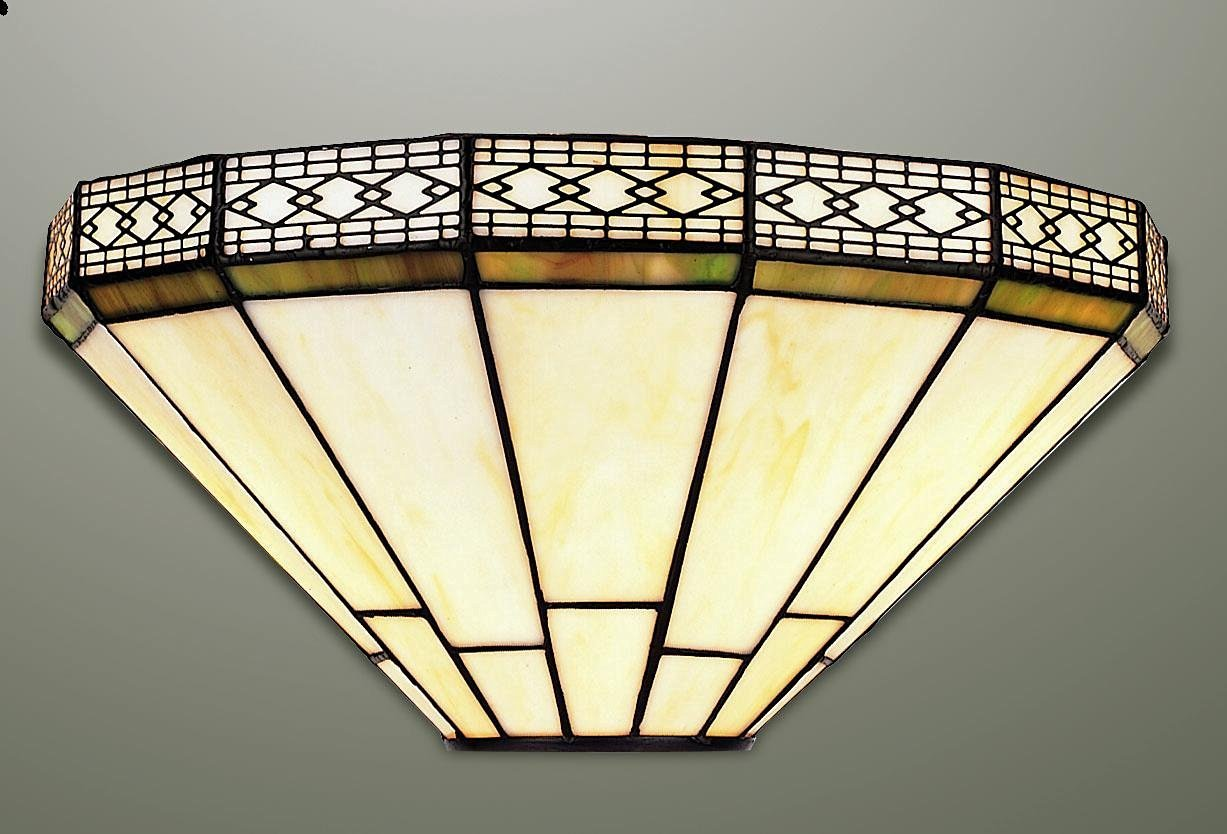 Mission stained glass tiffany wall light amazon lighting aloadofball Choice Image