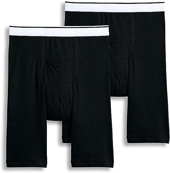 1186b37feb01 Jockey Men's Underwear Big Man Pouch Midway Brief - 2 Pack, Black, ...
