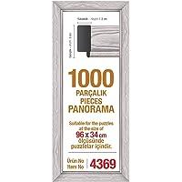 1000'lik Beyaz Panorama 96 x 34 cm Puzzle Çerçevesi