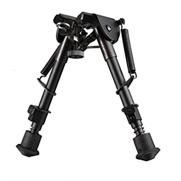 """Tactical 6/"""" to 9/""""  Foldable Bipod with Key Mod Rail Adapter For Sports Hunting"""