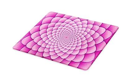 Amazoncom Ambesonne Pink Mandala Cutting Board Digital Lotus