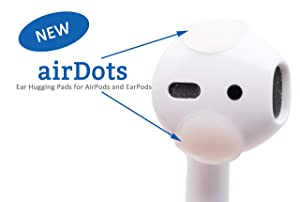 AirDots 2.0 AirPods Ear Hook Accessory Compatible Apple AirPods AirPods Pro and AirPods 2 EarPods Earphones Earbuds (24 Pack). Easy Charging, Better Sound and Comfy. Patent Pending.