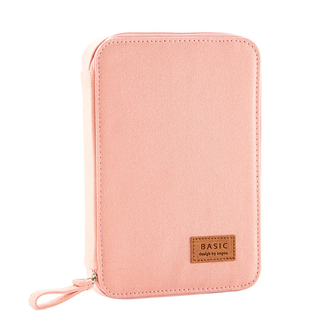 iSuperb Passport Wallet Cover Ticket Travel Bag iPad Bag Student Office Stationery Pencil Organizer Case (Pink)