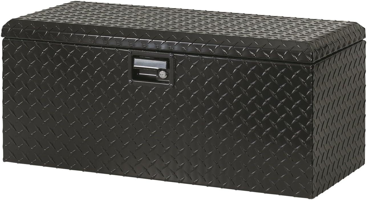 Diamond Box Xl >> Lund 288271bk 32 Inch Aluminum Atv Storage Box Diamond Plated Black