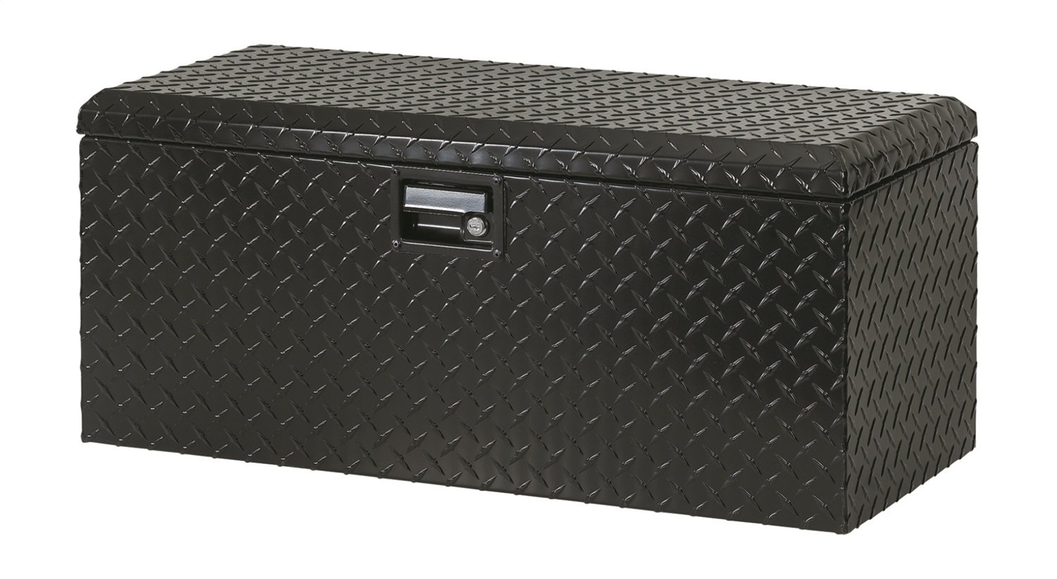 Lund 288271BK 32-Inch Aluminum ATV Storage Box, Diamond Plated, Black