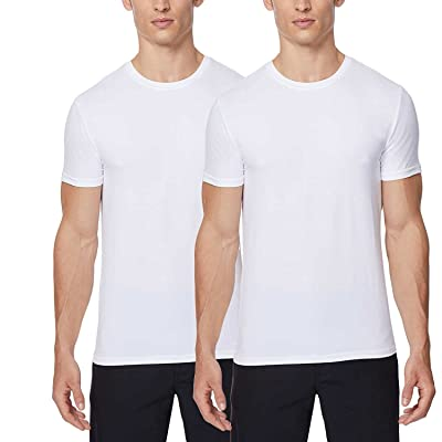 32 DEGREES Cool Mens 2 Pack Short Sleeve Crew Neck at Men's Clothing store