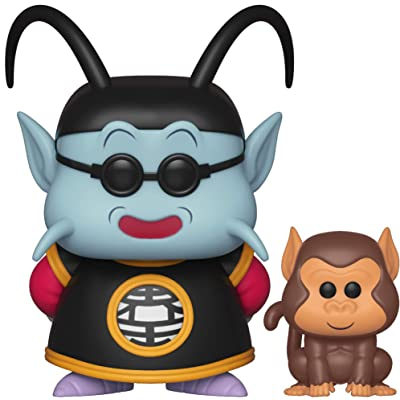 Funko Pop! & Buddy: Dragon Ball Z - King Kai & Bubbles Toy, Multicolor: Toys & Games