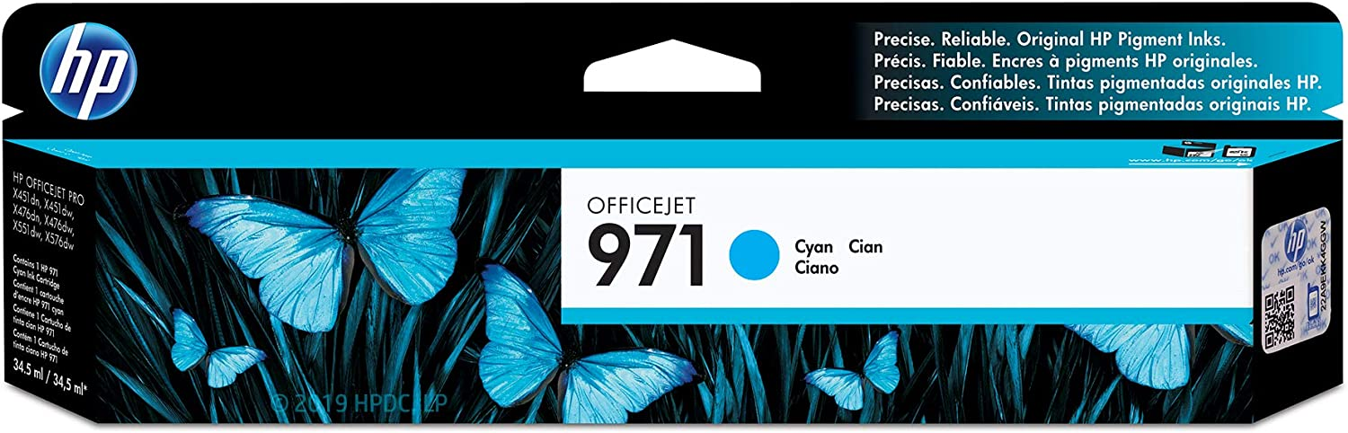 HP 971 | PageWide Cartridge | Cyan | CN622AM