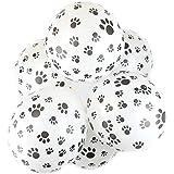 "Pack of 10 - Safari Animal Print 12"" Latex Balloons (Paw)"