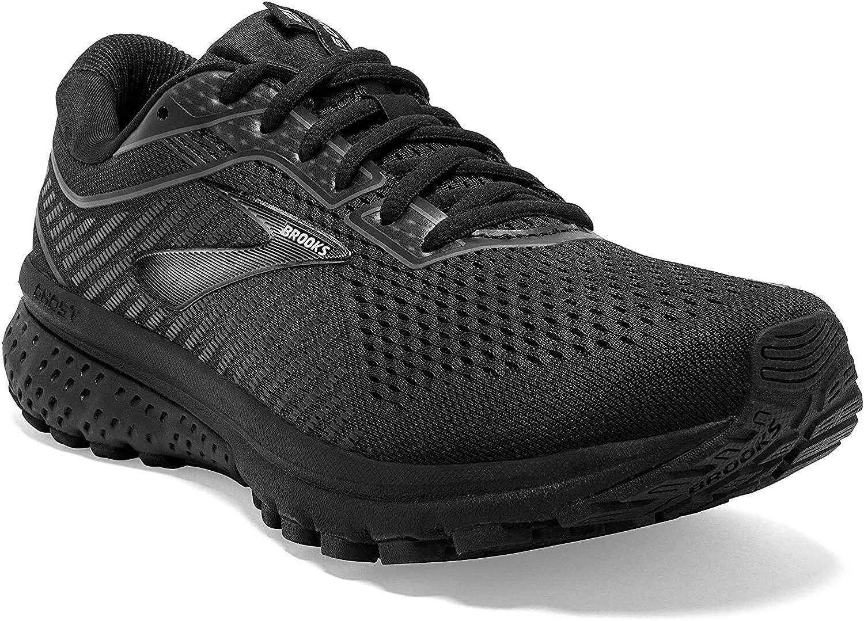 Brooks Women's Ghost 12 Running Shoes Black Ebony White