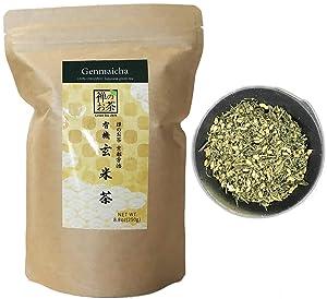 Zen no Ocha Genmaicha tea - Japanese loose leaf Organic Green tea Made in Kyoto Uji Japan (8.8oz (250g))