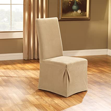 Image Unavailable Not Available For Color Sure Fit Stretch Pique Long Dining Room Chair