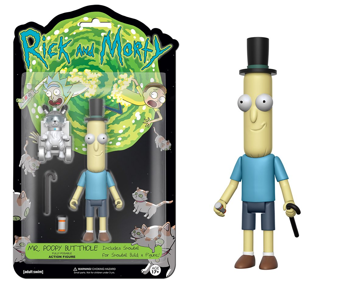 Funko 5 Articulated Rick And Morty Mrpoopy Butthole Bott Pop Birdperson Action Figure Toys Games