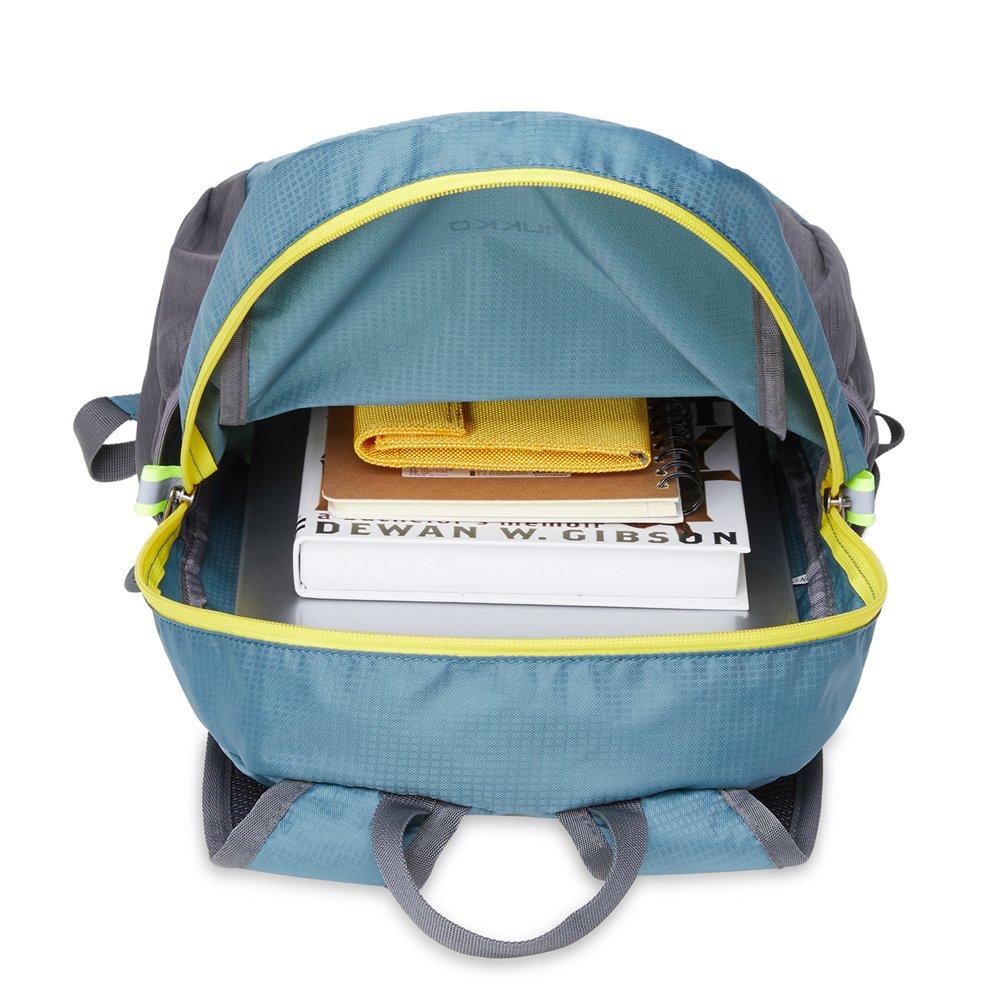 KAUKKO Laptop Outdoor Backpack, Travel Hiking& Camping Rucksack Pack, Casual Large College School Daypack, Shoulder Book Bags Back Fits 15'' Laptop & Tablets (01GREEN) by KAUKKO (Image #3)