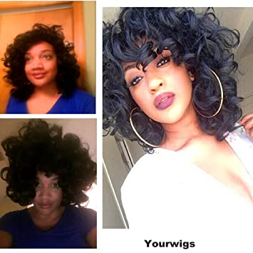 YOURWIGS Afro Kinky Short Curly Hair Wigs