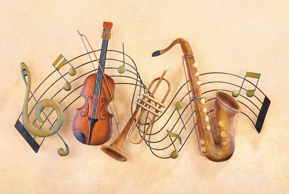 Amazon.com: Metal Instrument and Music Notes Wall Art: Home & Kitchen