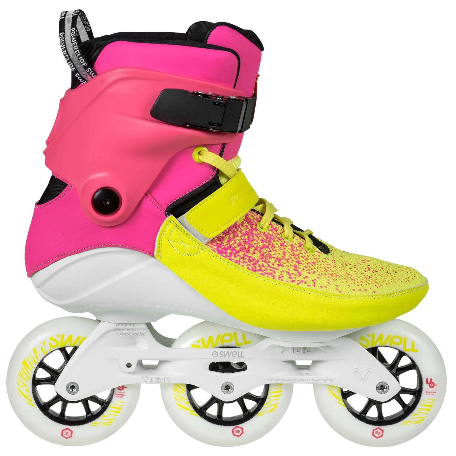 Powerslide Swell Multicolor Flair 100 Inline Fitness Speed Skates (EU43)