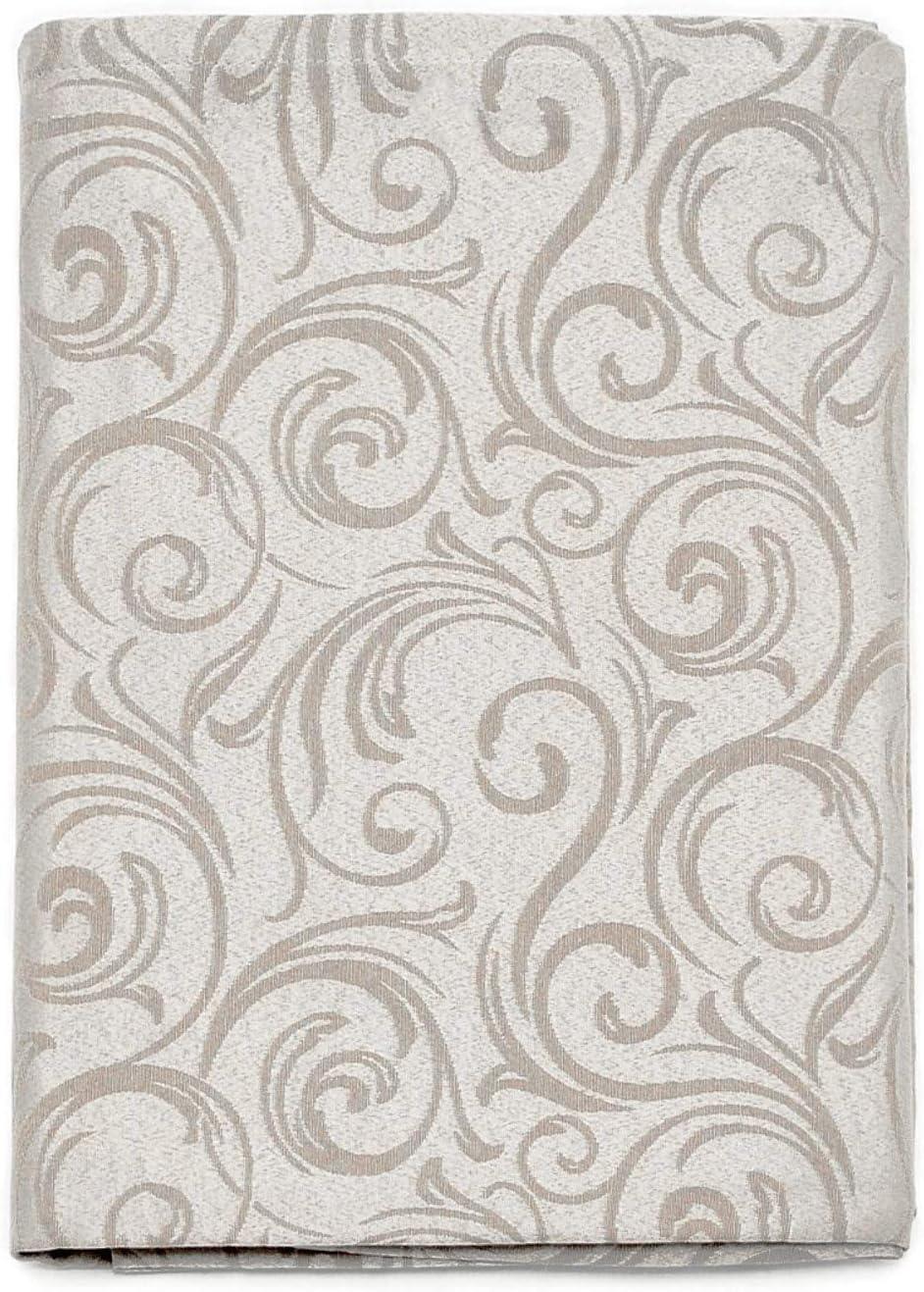 LYON GRANDES TAILLES 150 x 350 cm TRAITEMENT ANTI TACHE REF 59 x 137 NAPPE ARGENT
