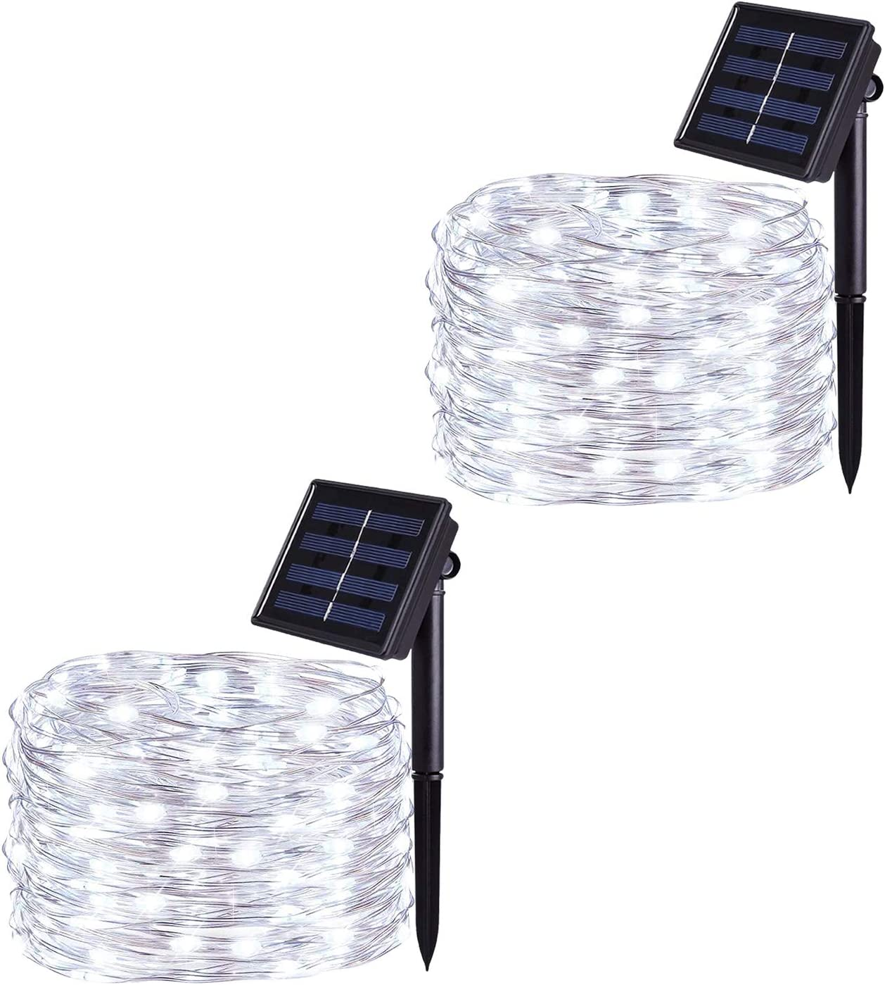 2 Pack Solar String Lights 10 Meter //32 Feet 100LED Warm White