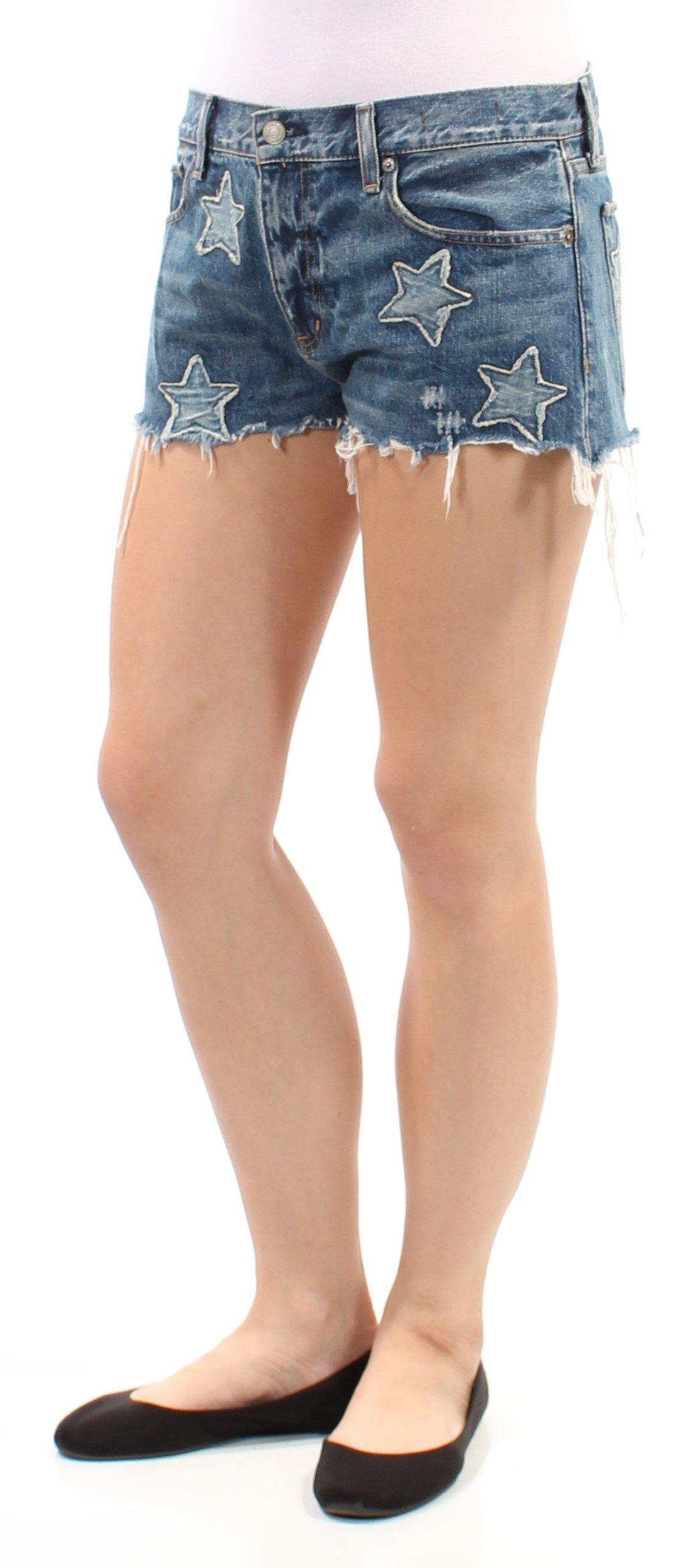 RALPH LAUREN Denim & Supply Women's Embroidered Boyfriend Shorts (Knox, 29)