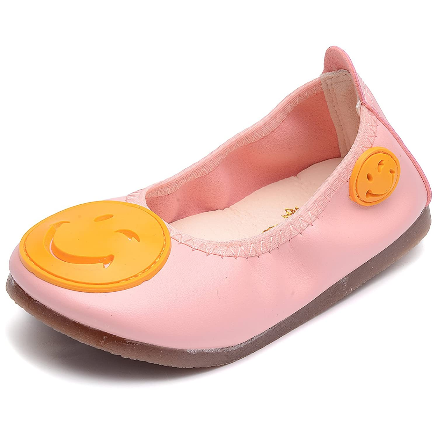bd1e4ef7f9a7 UBELLA Toddler Girls Leather Slip-On Loafer Boat Dress Shoes Kids Casual  Flats