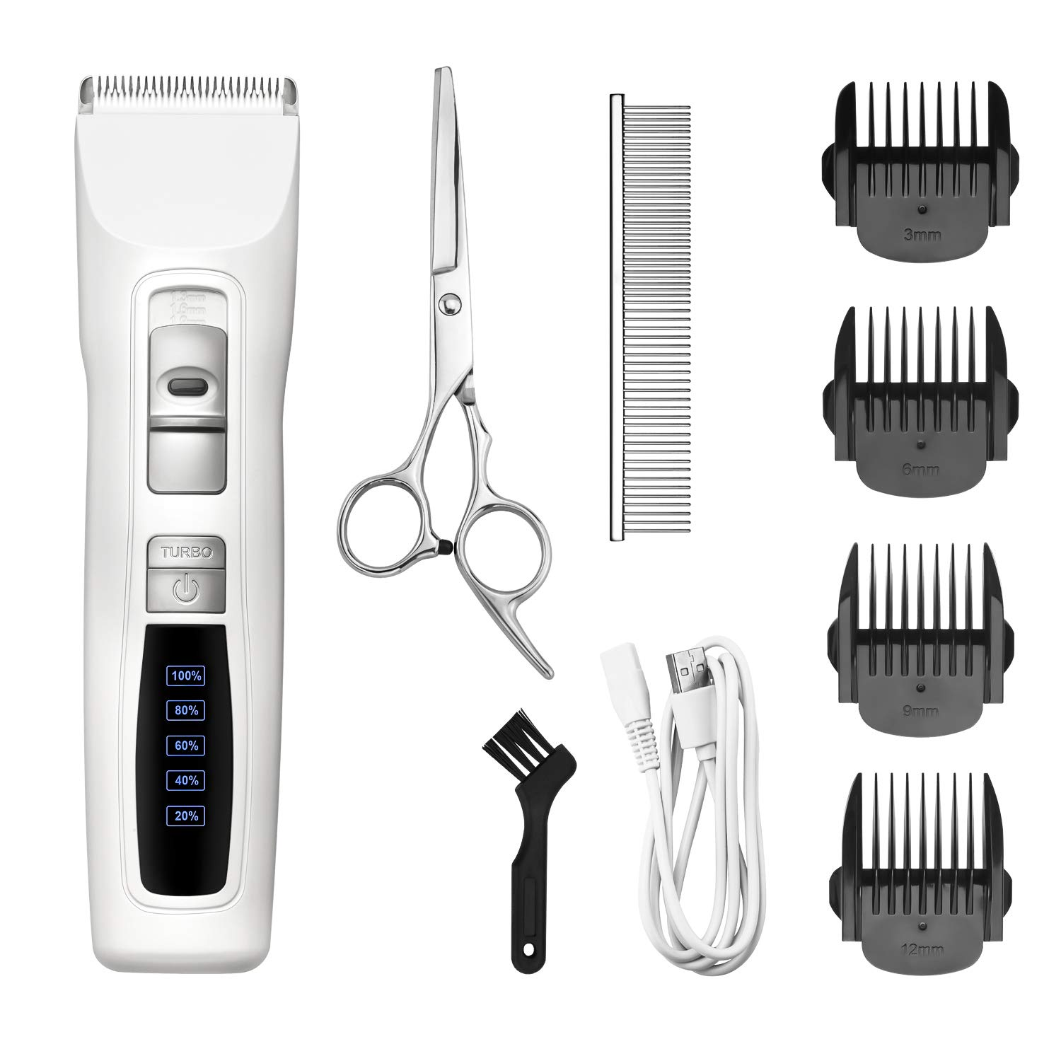 Bousnic Dog Clippers 2-Speed Cordless Grooming Clippers Kit