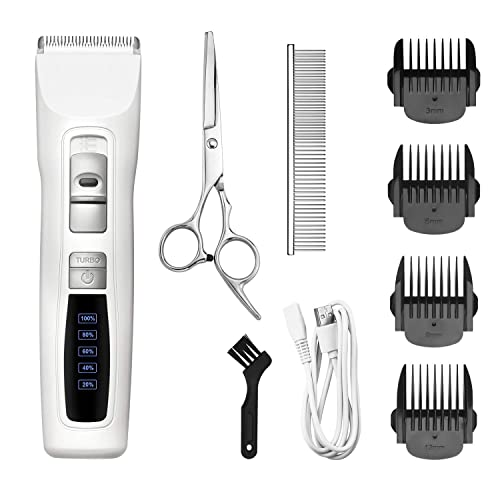 Bousnic Dog Clippers 2-Speed Cordless Pet Hair Grooming Clippers Kit