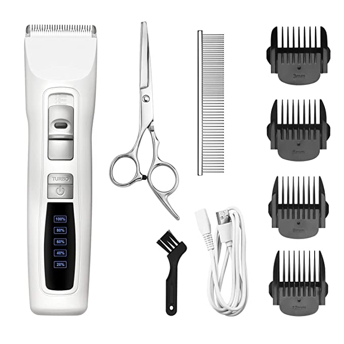 Bousnic Dog Clippers 2-Speed Cordless Pet Hair Grooming Clippers Kit - Most Affordable Maltese Clipper