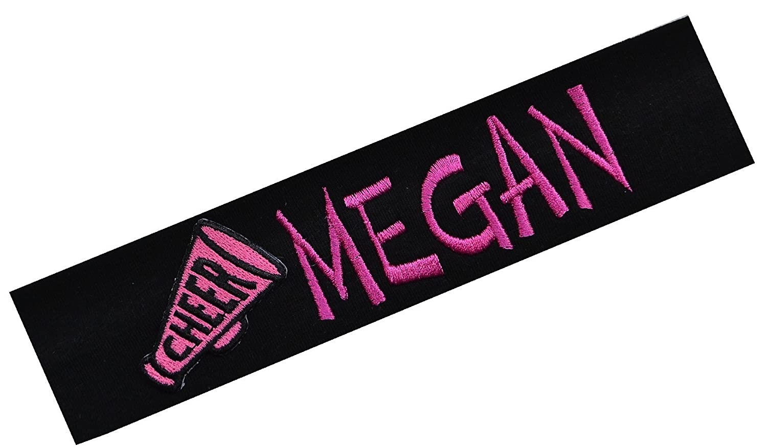 Personalized Embroidered Cheerleading Cotton Stretch Headband by Funny Girl Designs - Your Custom Text CHEEREMBROIDEREDHB-1