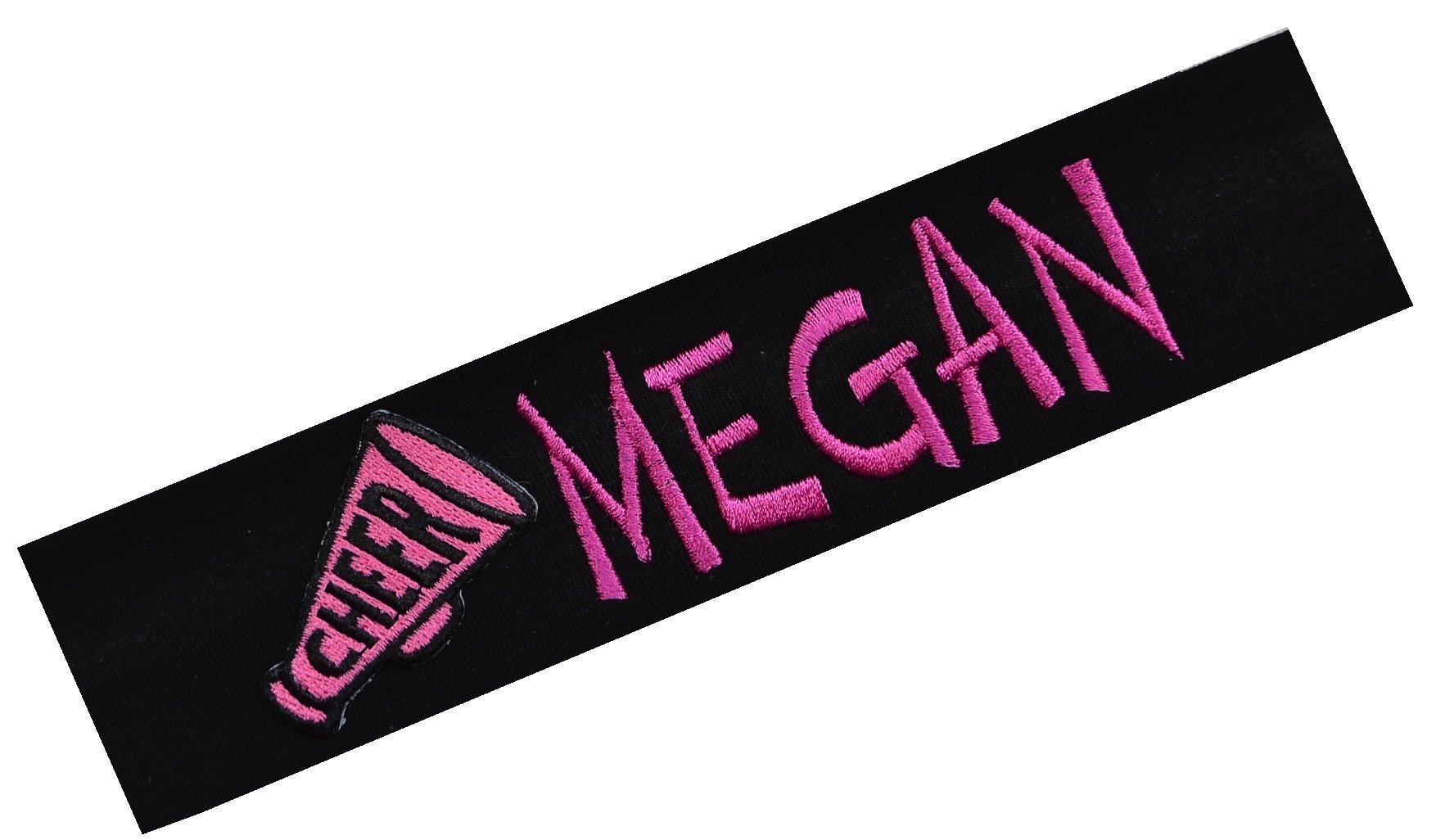 Personalized Embroidered Cheerleading Cotton Stretch Headband by Funny Girl Designs - Your Custom Text! (MAROON HEADBAND)
