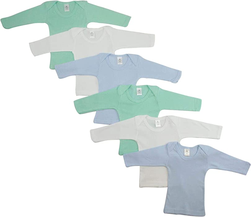 7e942a728e14 Amazon.com: Bambini Boys Pastel Variety Long Sleeve Lap T-Shirts 6 Pack -  Small, Blue/Yellow/White: Clothing