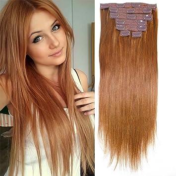 Straight long fine hair remy hair clip ins straight Hair Extensions clip in  remy human hair(120g...